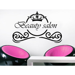 Beauty Salon Wall Decal Fashion Make Up Hair Spa Salon Vinyl Sticker Hairstyle Sticker Decal size 22x26 Color Black 23309521
