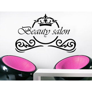 Beauty Salon Wall Decal Fashion Make Up Hair Spa Salon Vinyl Sticker Hairstyle Sticker Decal size 33