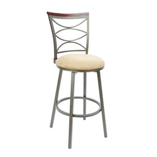 Ellipse Back Swivel Barstool with Straight Legs