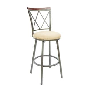 29-inch Diamond Back Swivel Barstool with Straight Legs