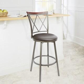 29-inch Diamond Back Swivel Barstool with Straight Legs