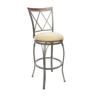 29-inch Diamond Back Swivel Barstool with Curved Legs