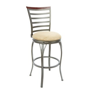 29 in. Ladder Back Swivel Barstool with Curved Legs