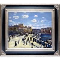 Pierre-Auguste Renoir 'Pont Neuf, 1872' Hand Painted Framed Oil Reproduction on Canvas