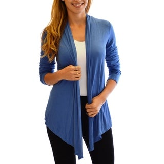 Dinamit Women' s Golden Black Fashion Rayon and Spandex Fly-away Front Basic Cardigan