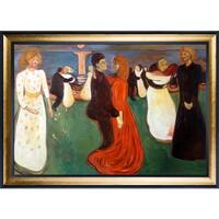 Edvard Munch 'Dance Of Life, 1899-1900' Hand Painted Framed Oil Reproduction on Canvas