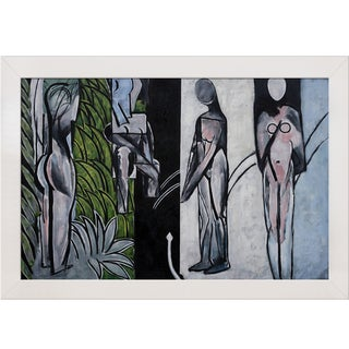Henri Matisse 'Bathers by a River' Hand Painted Framed Oil Reproduction on Canvas
