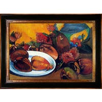 Paul Gauguin 'Still life with Mangoes, 1893' Hand Painted Framed Oil Reproduction on Canvas