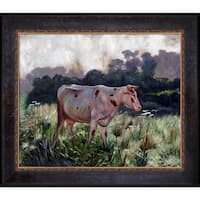 Emile Claus 'Cow' Hand Painted Framed Oil Reproduction on Canvas