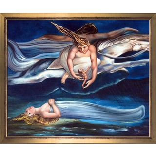 William Blake 'Pity' Hand Painted Framed Oil Reproduction on Canvas