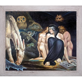 William Blake 'The Night of Enitharmon's Joy, 1795' Hand Painted Framed Oil Reproduction on Canvas
