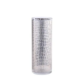 Silver Mercury Print Cylinder Vase