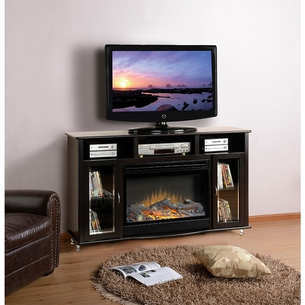 American Furniture Classics Espresso Black Entertainment Center ...