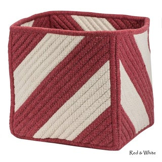 Cube Stripe Square Storage Basket 12x12x12