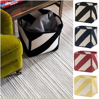 Cube Stripe Square Storage Basket 12x12x12