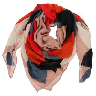 LA77 Abstract Colorblock Square Scarf