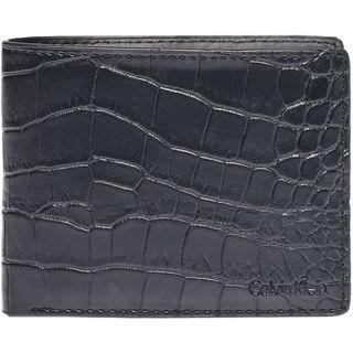 Calvin Klein Men's Croc Embossed Leather Wallet Billfold Wallet