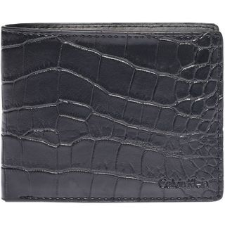 Calvin Klein Men's Croc Embossed Leather Wallet Billfold Wallet