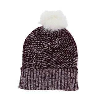 LA77 Fuzzy Marbled Knit Beanie