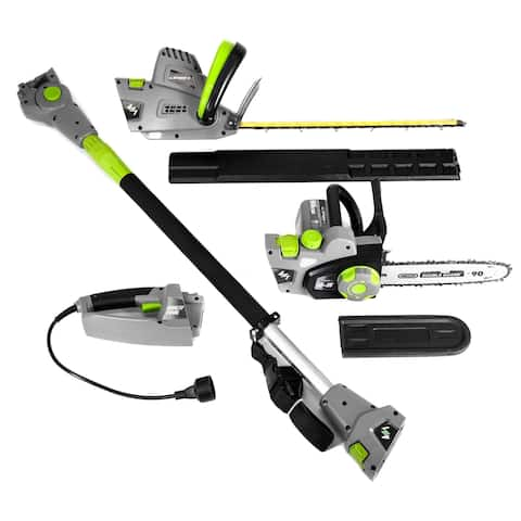 Earthwise 4-in-1 Electric Chainsaw with Pole Saw, Hedge Trimmer, and Pole Hedge Trimmer