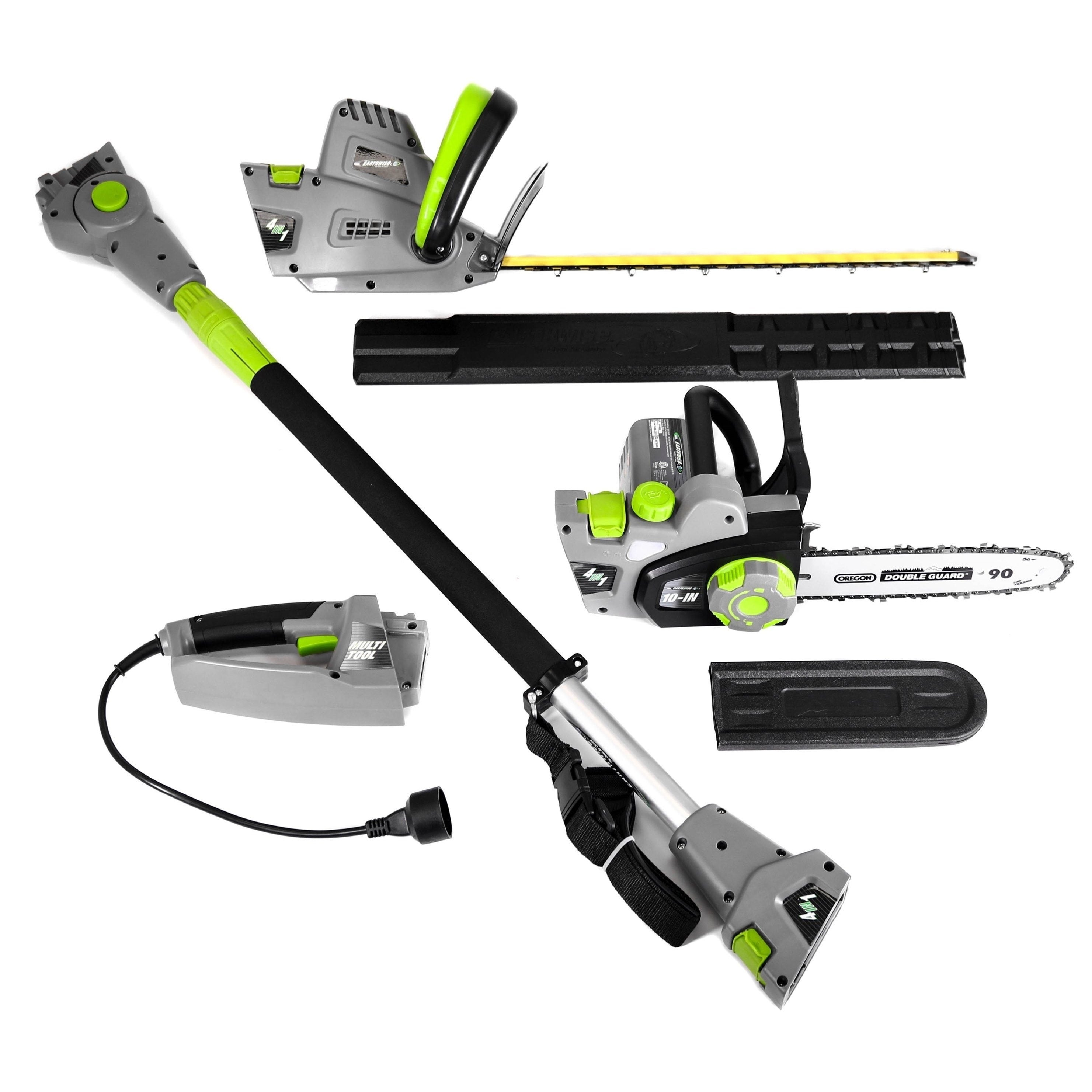 Esselte 4-in-1 Electric Chainsaw with Pole Saw, Hedge Tri...