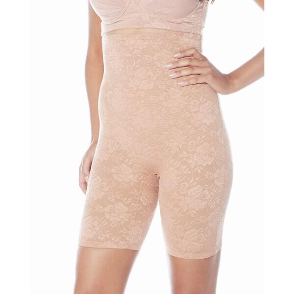 Rhonda Shear Firm Control Nylon/ Spandex High-waist Longline Shapewear