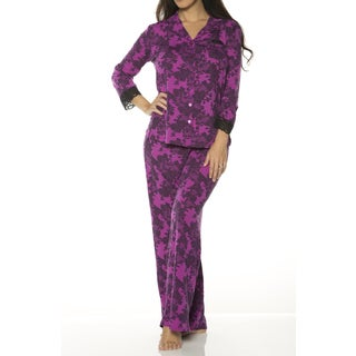 Rhonda Shear Printed Pajama Set (Option: 2x)