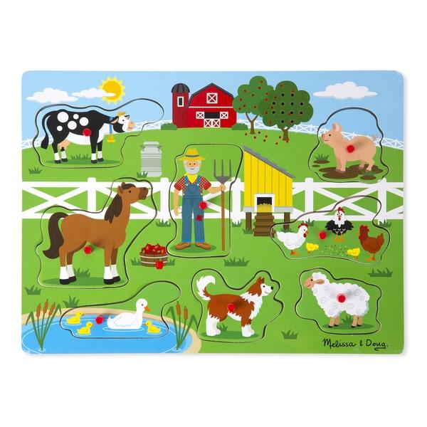 Melissa & Doug Old MacDonald's Farm Sound Puzzle