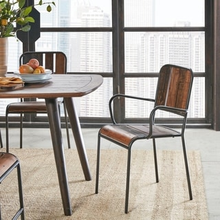 INK+IVY Renu Light Brown Dining Arm Chair (Set of 2)