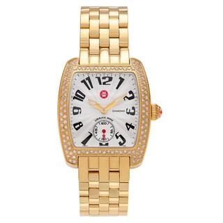 Michele Women's MWW02A000064 'Urban Mini' Goldtone 3/5 CT TDW Diamond Link Bracelet Watch