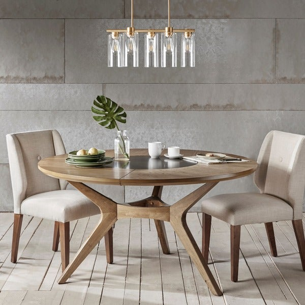 Round Kitchen Tables: Shop INK+IVY Metro Natural Oak Round Dining Table