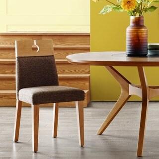 INK+IVY Metro Dark Brown/ Natural Dining Chair (Set of 2)