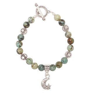 Healing Stones for You African Turquoise Celestial Bracelet