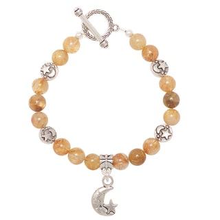 Healing Stones for You Gold Rutile Quartz Celestial Bracelet