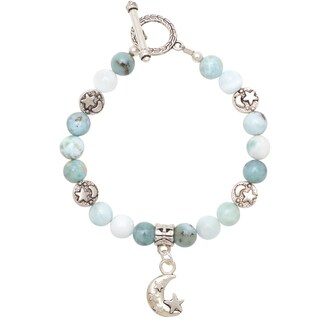 Healing Stones for You Larimar Celestial Bracelet