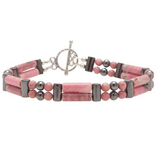 Healing Stones for You Rhodonite Double Power Bracelet 'Emotional Balance'