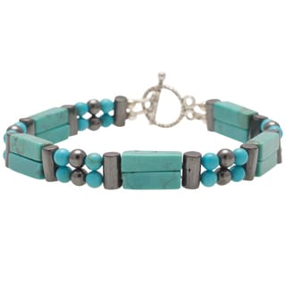 Healing Stones for You Turquoise Double Power Bracelet 'Release Inhibitions'