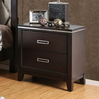 Furniture of America Derraugh Contemporary Cherry 2-drawer Nightstand