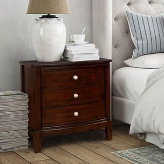 Furniture Of America Kami Transitional Brown Cherry 3 Drawer Nightstand