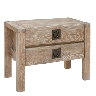 INK+IVY Oaktown Reclaimed Grey Nightstand