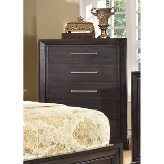 Furniture of America Stoneward Dark Grey 5-Drawer Chest
