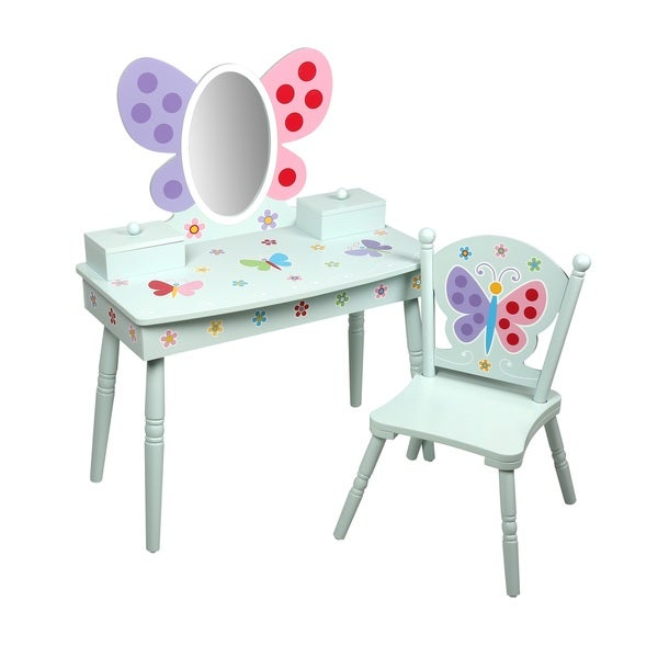 Olive Kids Butterfly Garden Vanity Set with Chair  sc 1 st  Overstock.com & Olive Kids Butterfly Garden Vanity Set with Chair - Free Shipping ...