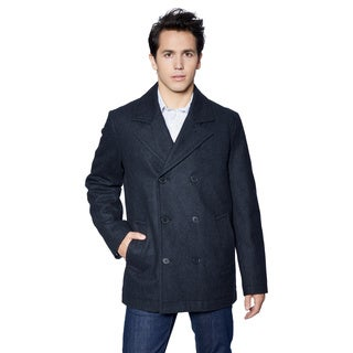 Men's Tommy Hilfiger Melton Classic Wool Peacoat XL Size in Charcoal (As Is Item)