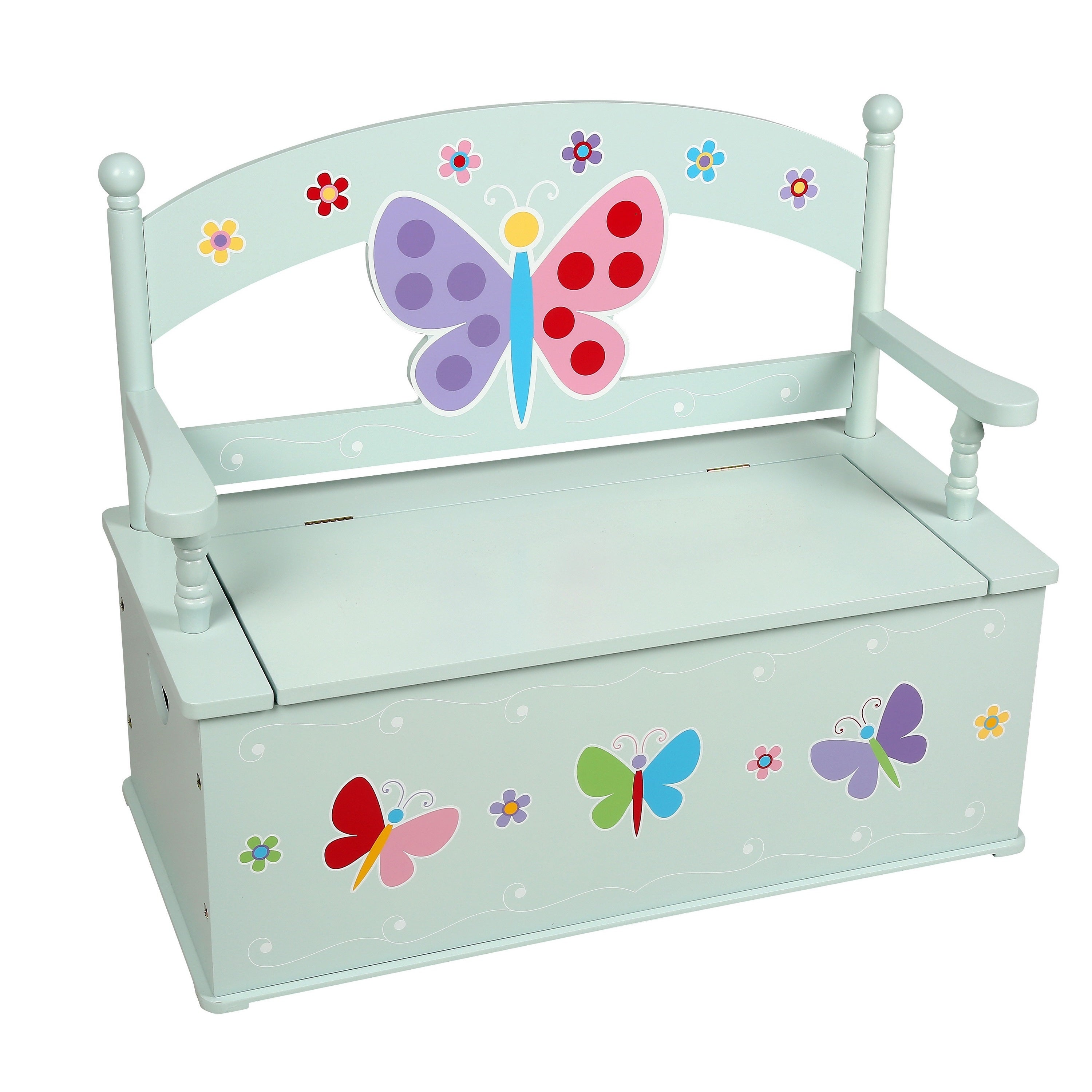 Levels of Discovery Olive Kids Butterfly Garden Bench Sea...