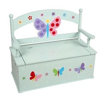 Olive Kids Butterfly Garden Bench Seat w/ Storage