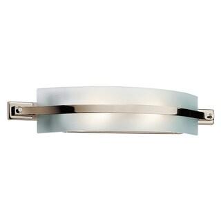 Kichler Lighting Freeport Collection 2-light, 28-inch Polished Nickel Linear Bath/Vanity Light