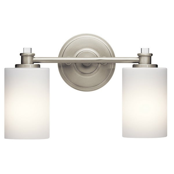 Shop Kichler Lighting Joelson Collection Light Brushed Nickel Bath - Satin nickel bathroom vanity light