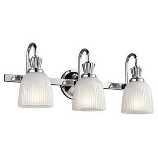 Kichler Lighting Cora Collection 3-light Chrome Bath/Vanity Light