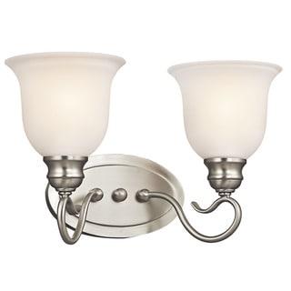 Kichler Lighting Tanglewood Collection 2-light Brushed Nickel Bath/Vanity Light