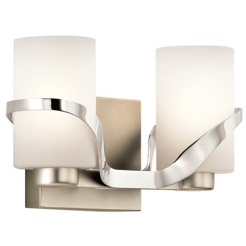 Kichler Lighting Stelata Collection 2-light Polished Nickel Bath/Vanity Light